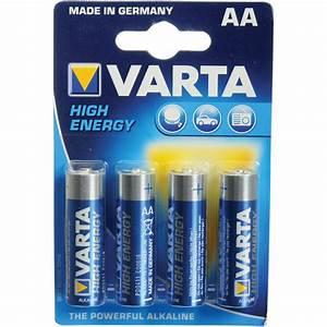 Batterie 1 5v Aa : varta high energy 1 5v aa lr6 alkaline battery v4906121414 b h ~ Markanthonyermac.com Haus und Dekorationen