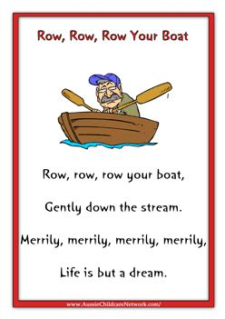 Row Your Boat Nursery Rhyme Meaning by 8 Best Images Of Row Row Row Your Boat Nursery Rhyme
