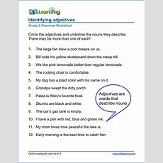 Grammar Worksheets For Elementary School  Printable & Free  K5 Learning