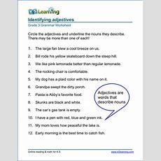 Grammar Worksheets For Elementary School Printable