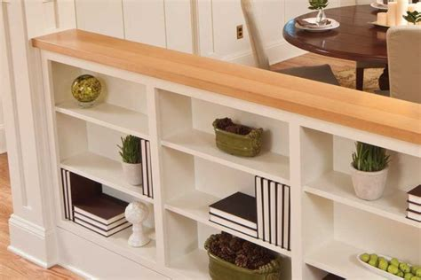 wall built  shelves  dining room