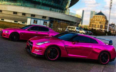 pink chrome car  chrome  advanced chrome spray