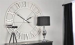 Contemporary large wall clock for living space clocks