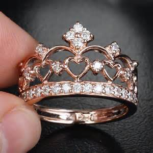 crown shaped engagement rings unique 14k gold crown from thelogr on etsy rings