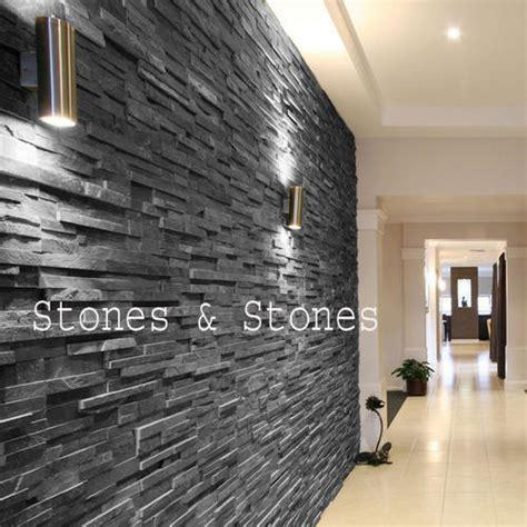 black slate wall cladding tiles  rs  wall cladding