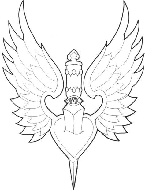 Dagger thru winged heart tattoo sample - Tattoos Book - 65.000 Tattoos Designs