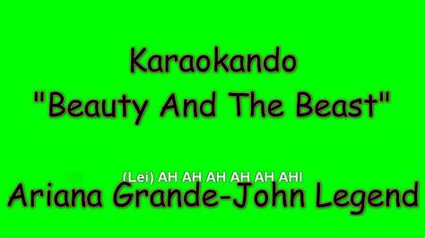 karaoke internazionale beauty   beast ariana