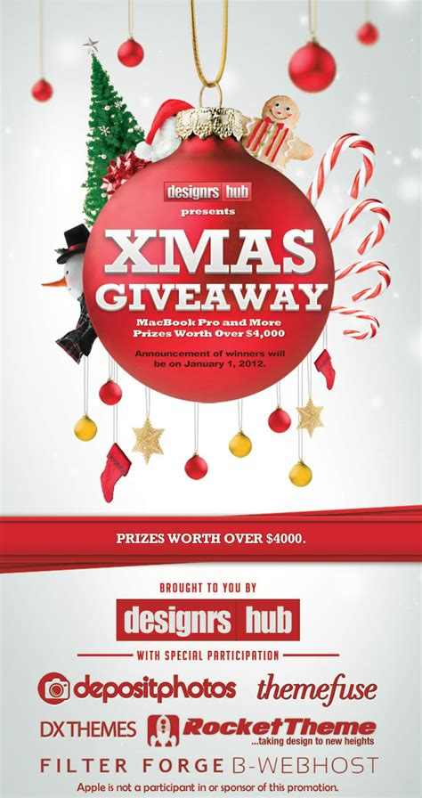 xmas giveaway macbook pro and more prizes worth over 4 000