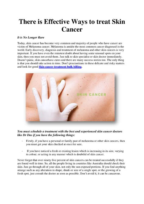There Is Effective Ways To Treat Skin Cancer Authorstream