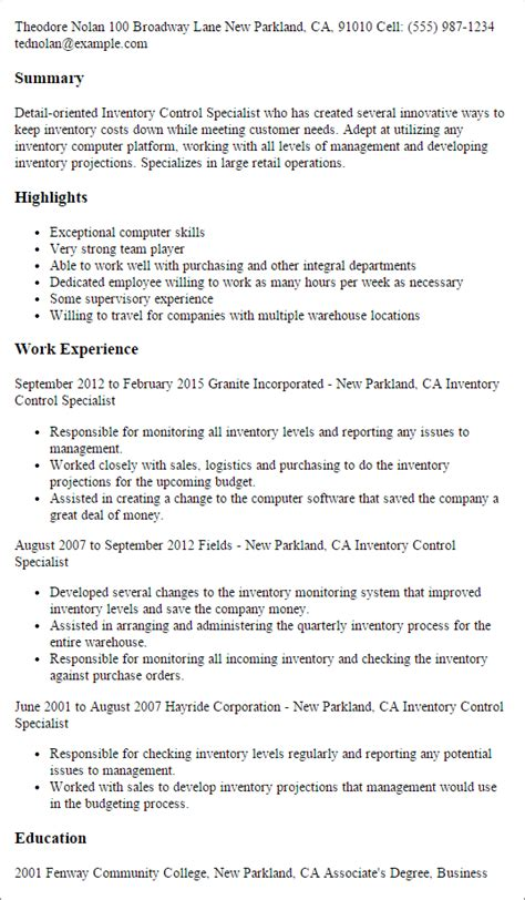 Inventory Control Specialist Resume Template — Best Design. Sample Resume Of Sales Manager. How To Write A Construction Resume. Help To Create A Resume. Engineering Internship Resume Examples. Football Coaching Resume Template. Software Development Manager Resume. Store Manager Duties Resume. Patient Account Representative Resume