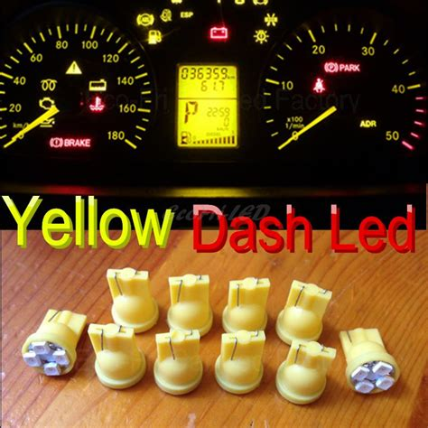 yellow  ww led dashboard instrument panel lights