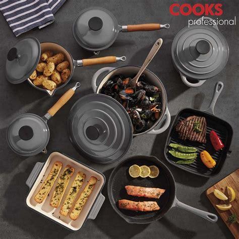 cooks professional  piece cast iron cooking set