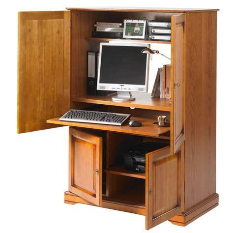 armoire informatique 4 portes plaqu 233 e merisier beaux