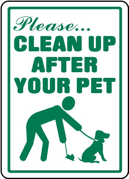 clean up after your pet sign f6926 by safetysign com