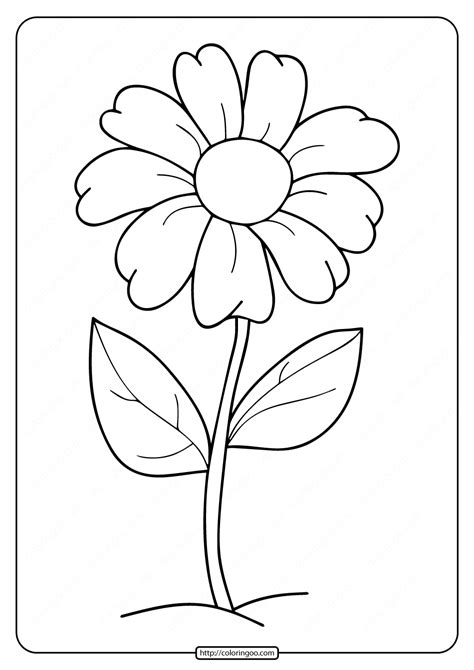 printable simple flower coloring pages