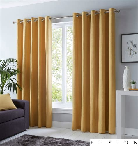 fusion sorbonne plain ochre mustard yellow  cotton