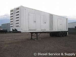 Cummins 1500 Kw Portable Industrial Diesel Generator 83 Hours  480 Volts  Sound Attenuated