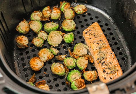 air fryer food brussels trader whole30 fried sprouts salmon foods lunch recipes joes eat dairy gluten carb crispy grain whole