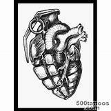 Skeleton Hand Grenade Tattoo | 300 x 300 jpeg 17kB