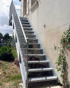 photo dt57 esca39droitr avec palier d39arrivee escalier With maison avec escalier exterieur 2 ferronnerie rampe