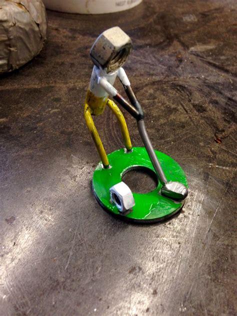nuts bolts golfer tig welding metal art welding art