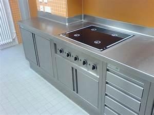 edelstahl arbeitsplatten With küche mit edelstahl arbeitsplatte