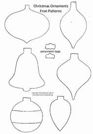 printable christmas ornament patterns - Free Christmas Ornament Patterns