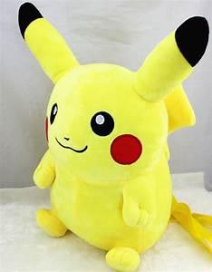 POKEMON Pikachu PLUSH backpack large STUFFED yellow DOLL ...