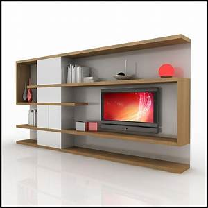 Modern 3d shelf unit for your living room interior for Modern tv wall design