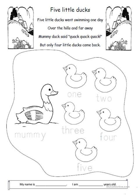 ducks worksheet  esl printable
