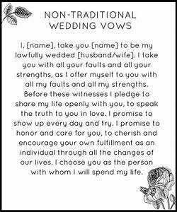 modern non traditional wedding vows snippet ink With non traditional wedding vows
