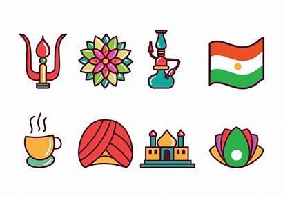 India Icons Vector Clipart Graphics Vectors