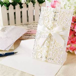 blank wedding invitation cards lace party invites white With lace cover wedding invitations