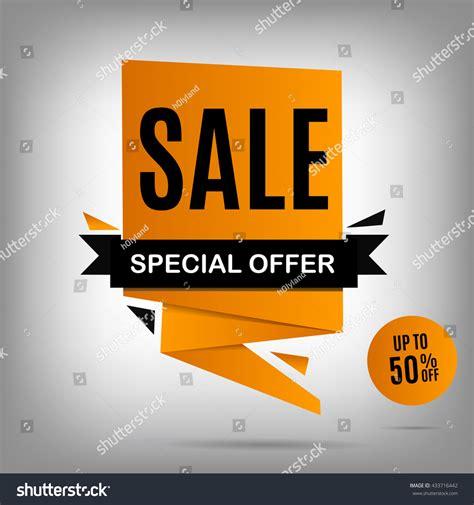 vector sale banner yellow sale poster stock vector