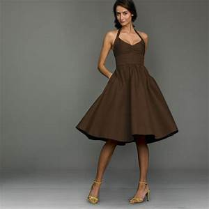brown bridesmaid dresses With brown dresses for wedding