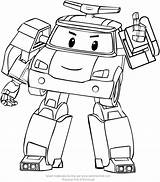 Poli Robocar Coloring Drawing Pages Printable Getdrawings Paintingvalley sketch template