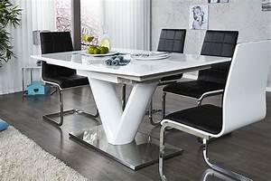Table a manger blanc laque for Meuble de salle a manger avec table salle a manger blanc laqué but