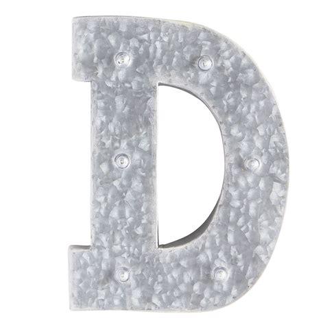 gray led monogram letter  iron verzinktes metall monogramm buchstaben