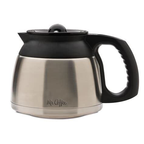 We have to pick it up and swish it around to test if there's any coffee left. Mr. Coffee® 8-Cup Thermal Carafe (BVMC-SJX33GT & BVMC-SJX36GT only) DRD95-RB - Mr. Coffee