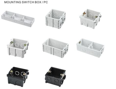 surface mounting wall switch box electrical plastic switch