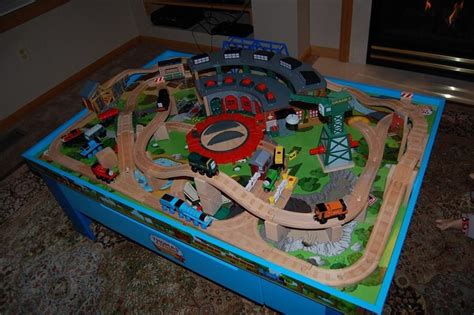 wood track layouts google search wooden train table