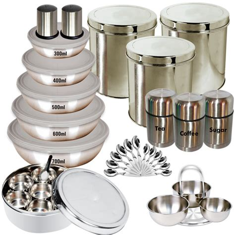 steel kitchen accessories buy branded 35 pcs stainless steel storage set at 2499