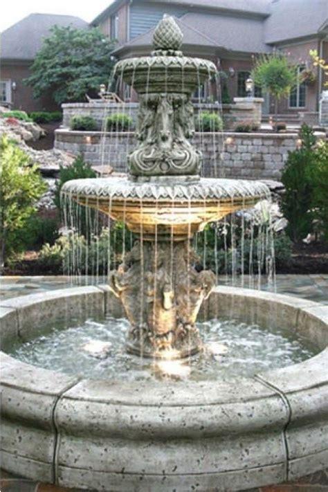 cavalli outdoor fountain  fiore pond garden