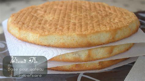 biscuit fin base pour gateau d anniversaire amour de cuisine