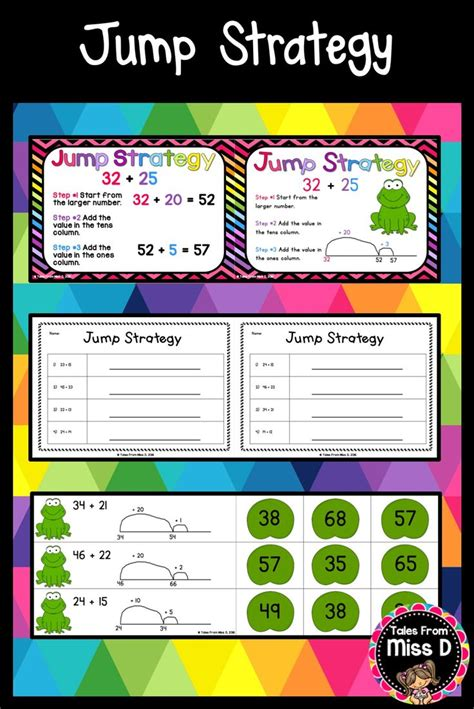 jump strategy teaching subtraction teaching addition
