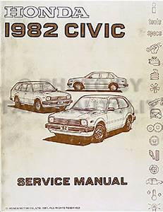 1982 Honda Civic Repair Shop Manual Original