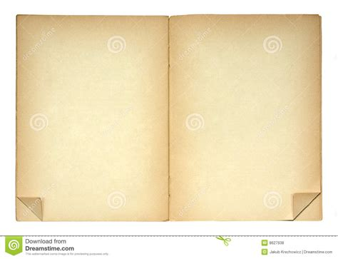 Open Book With Folded Page Corners Royalty Free Stock