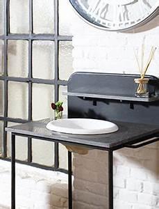 Meuble Rangement Salle De Bain But : meuble salle de bain industriel made in meubles ~ Dallasstarsshop.com Idées de Décoration