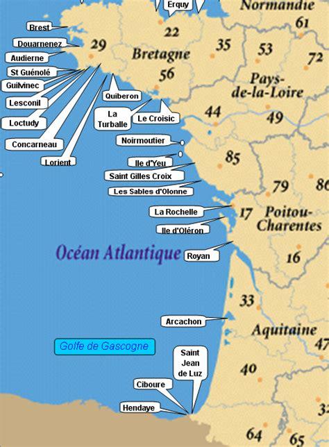 Carte De Plage Atlantique by Info Atlantique Carte