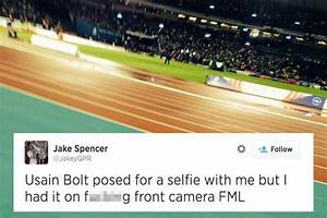 Usain Bolt selfie fail as fan takes picture with camera ...